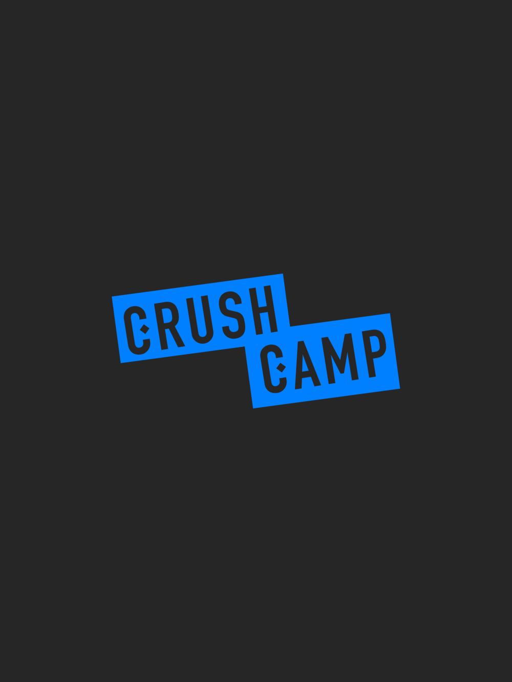 CrushCamp Logo | Trout + Taylor www.troutandtaylor.com