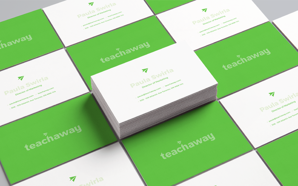 Teach Away Business Card Design | Trout + Taylor www.troutandtaylor.com