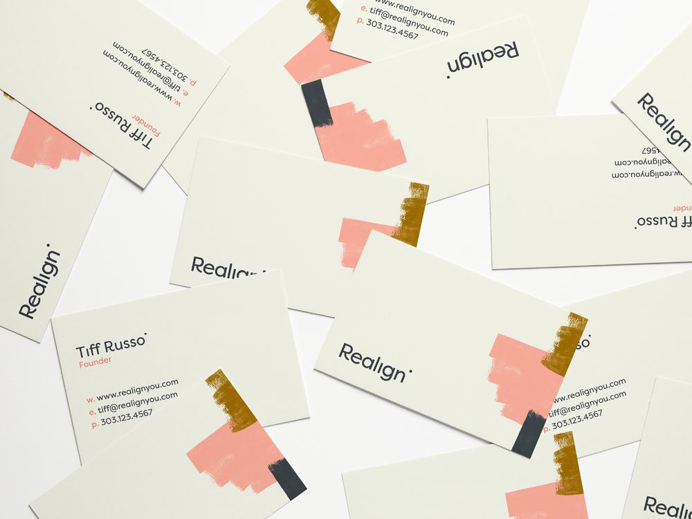 Realign Business Card Design | Trout + Taylor www.troutandtaylor.com