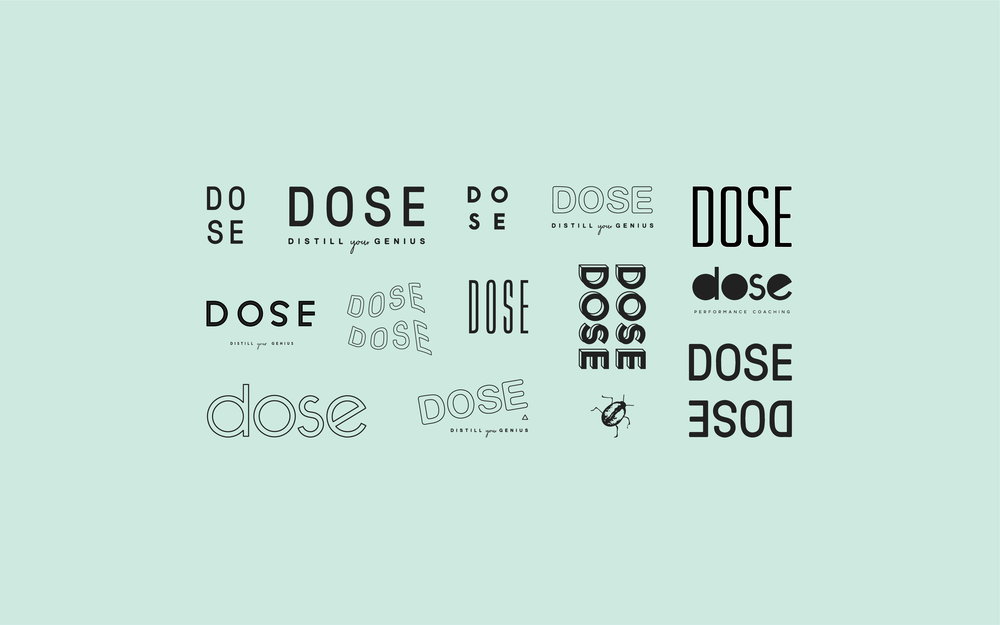 Dose Logo | Trout + Taylor www.troutandtaylor.com