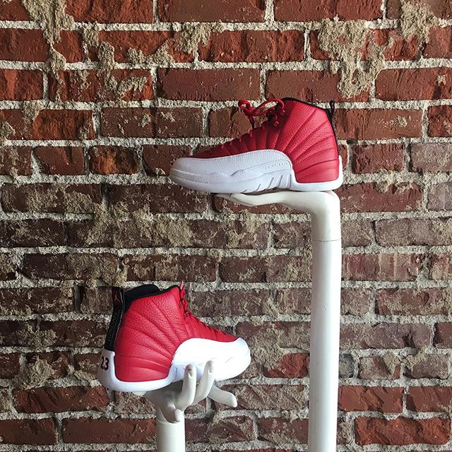 "The @jumpman23 Air Jordan 12 Retro ""Gym Red"" releases tomorrow 7/2. Today is the last day to come in and RSVP your pair!"