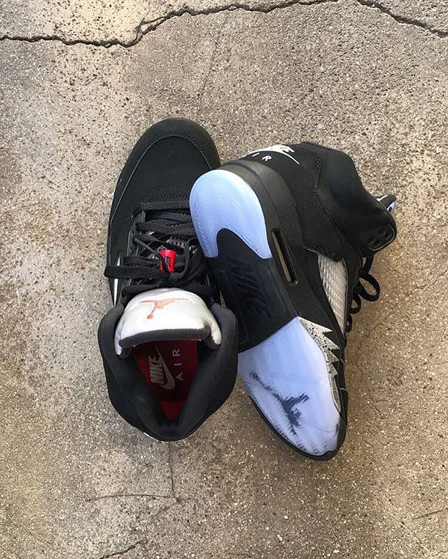 """This Saturday 7/23 the @jumpman23 Air Jordan 5 OG """"Black Metallic"""" makes it's original return in Nike Air form. Stop by from now till Friday at either location to reserve your pair! @atnx143 @atnx250"""