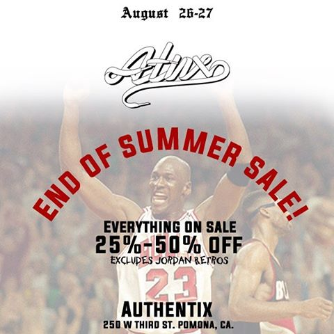 We're having a huge end of summer sale at our Pomona location! Don't sleep, lots of great deals going on today and tomorrow only!