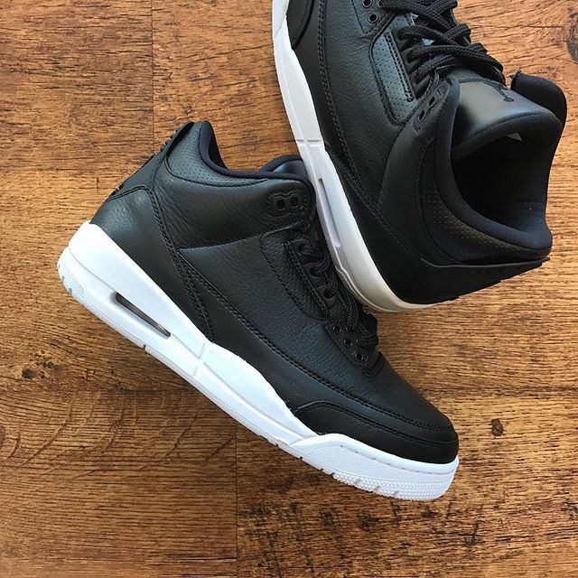 """The @jumpman23 Air Jordan 3 """"Cyber Monday"""" releases Saturday 10/16. Stop by and reserve your pair before they're all gone!"""