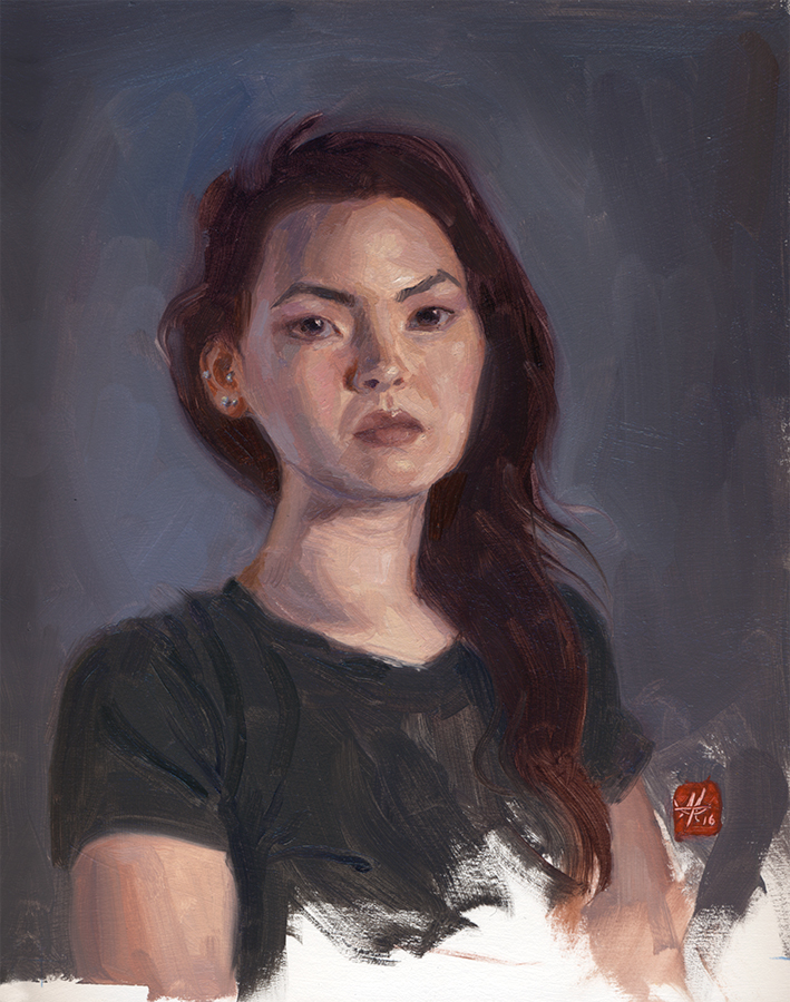 """Nikki"" from The Bitchy Resting Face Project, by Mandy Tsung (Image courtesy of artist)."