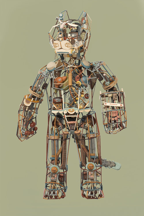 """Giant Robot Cat"" by Sean Chao. Image courtesy of artist."