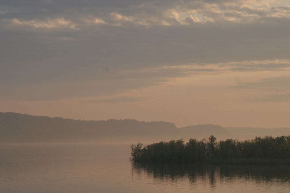 misty lake pepin