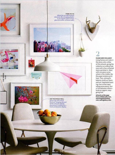 """Paper Planes (Pink)"" - Real Simple Magazine"