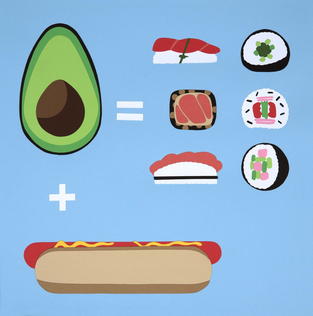 Hot Dog + Avocado = Sushi