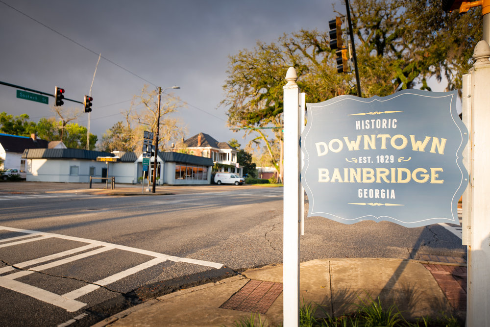 Gateway to Bainbridge Business District -