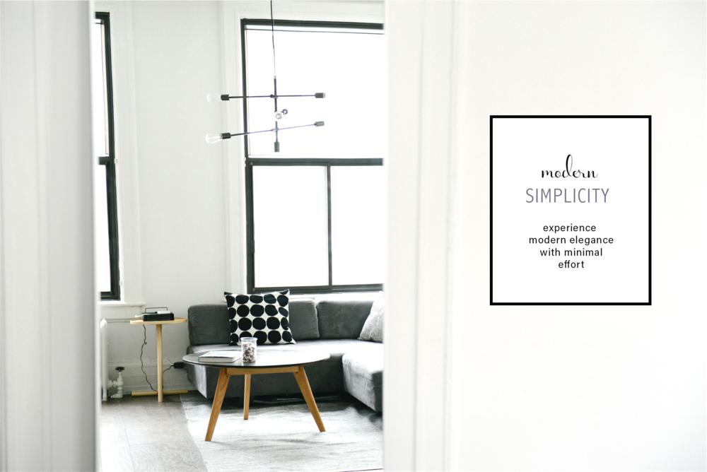 Minimal furniture design catalog graphic style (c) Becca Verna Style Shop