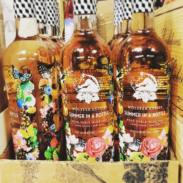 every time I see this wine in the store I have to stop and admire the pretty labels #summerinabottle #roseallday #florals #floralinspiration