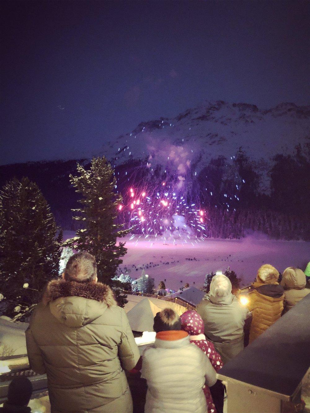 Fireworks in St. Moritz