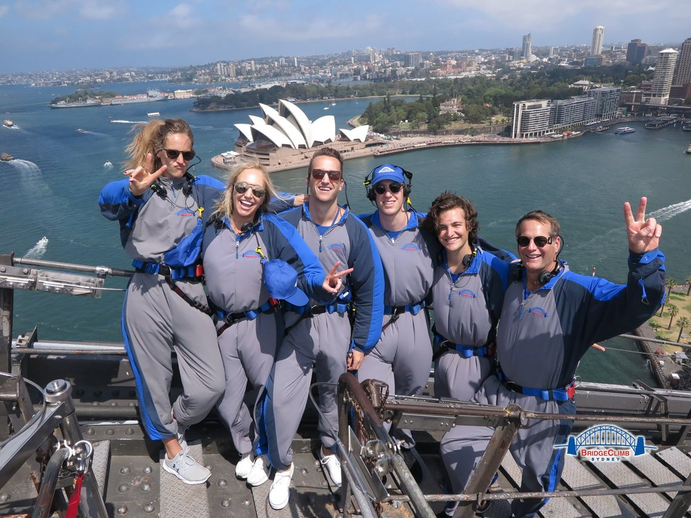 This is a photo of my family, January 1st, 2018, climbing the Sydney Harbor bridge. The next day we were scheduled for the seaplane. I'm counting my blessings! Happy 2018!