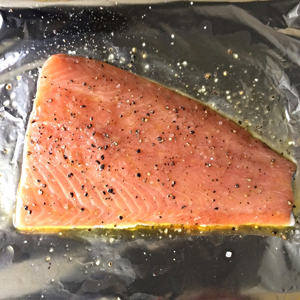 Fresh Scottish loch trout ready to cook in the oven