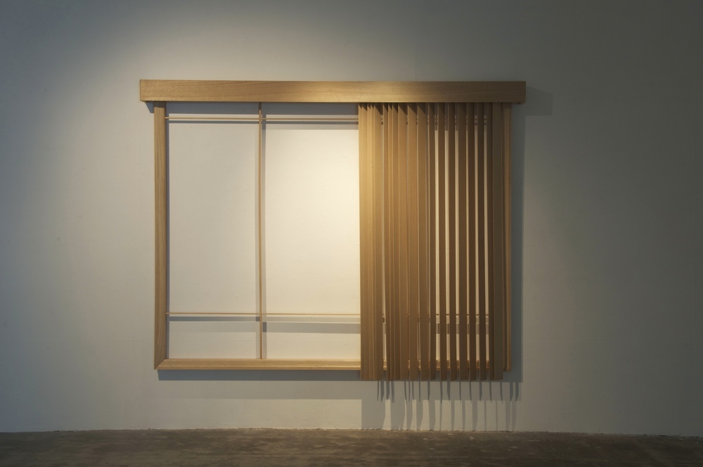 10.Georgina Cue, Rear Window, 2011, Hard wood and MDF, 290cm  × 195cm × 18cm.jpg