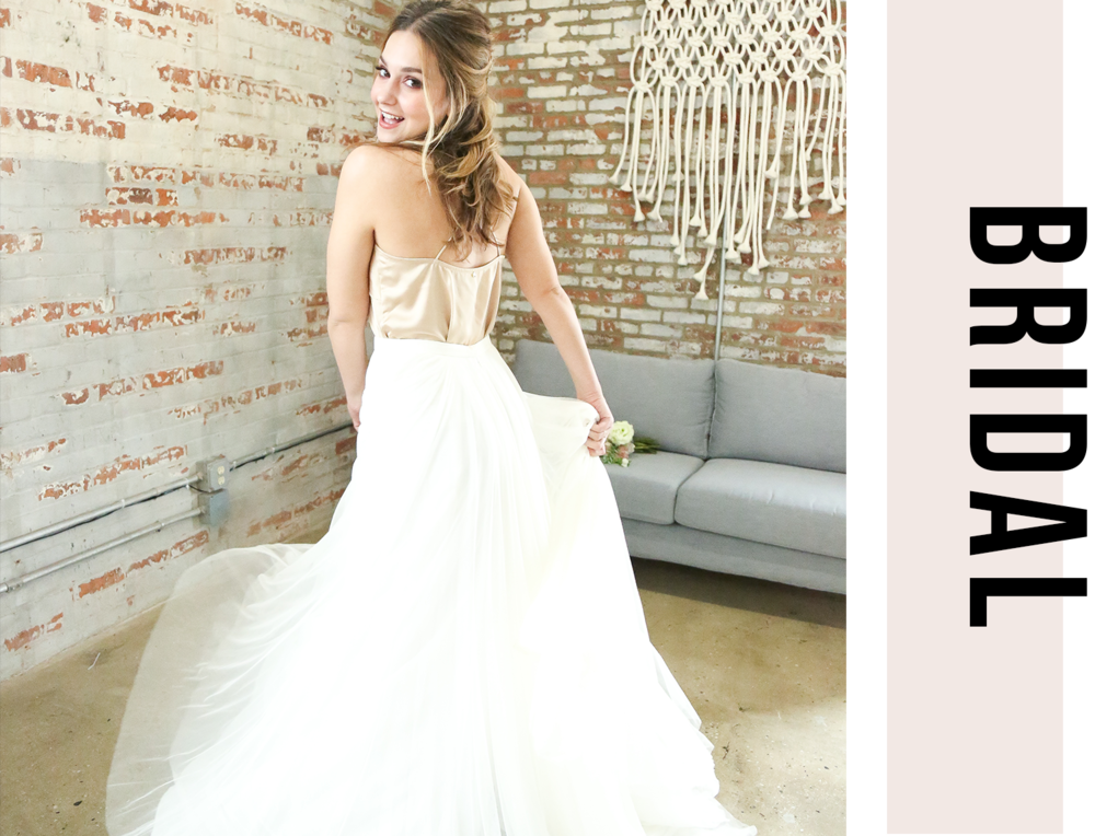 - The Love Lane Salon team is always excited when clients consider us for their bridal hair and/or makeup. Our goal is to make you the most beautiful version of your self for your big day, no matter the size or location of your bridal party.