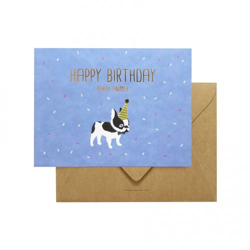 Chik Shop Nyc Boston Terrier Birthday Card