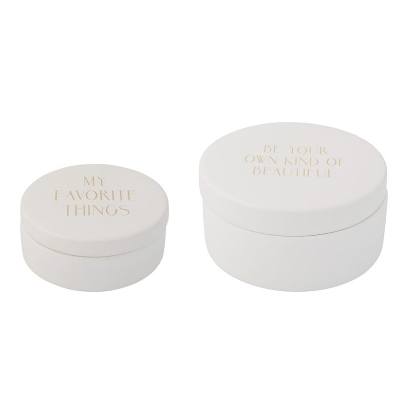 WHITE CERAMIC TRINKET BOXES WITH LIDS