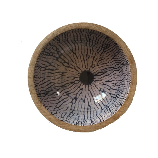 HANDMADE WOOD BOWL (CIRCLES)