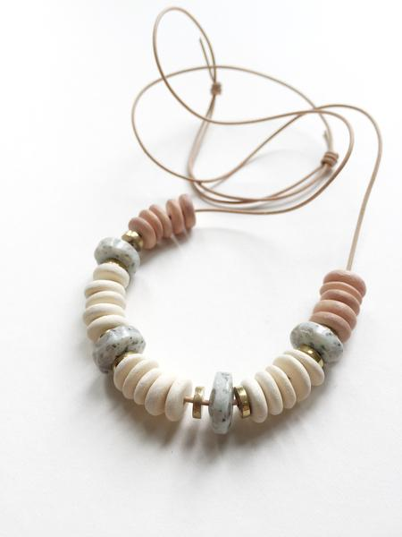 REFLECTIONS NECKLACE MADE FROM BLUSH WOOD & JASPER