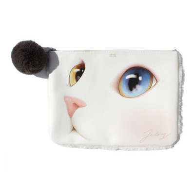 CAT FACE FUR CLUTCH