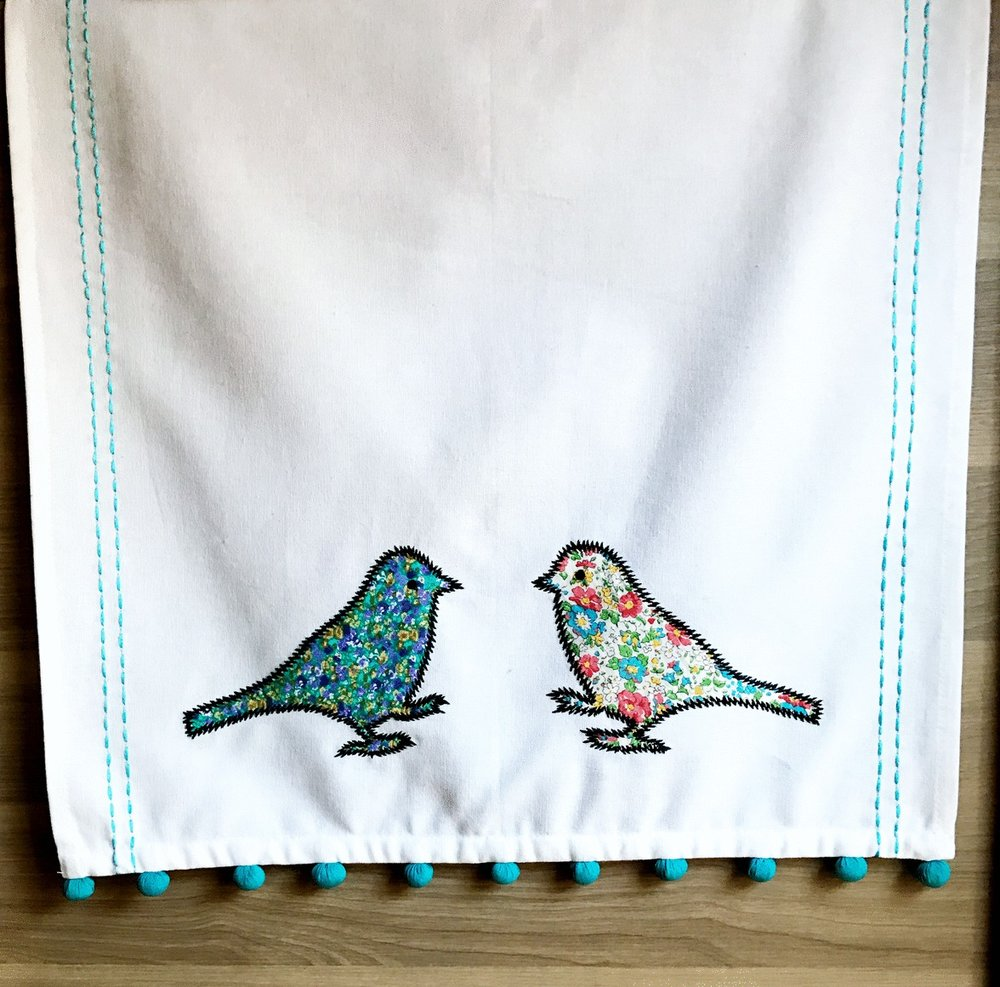 LOVE BIRDS TEA TOWEL