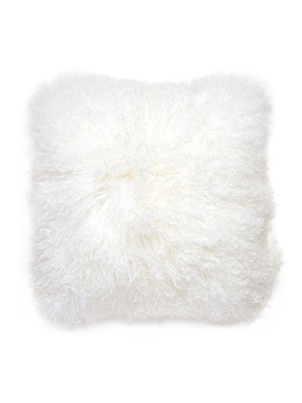 Mongolian fur pillows White White Mongolian Lamb Fur Pillow Dhgate Chik Shop Nyc White Mongolian Lamb Fur Pillow