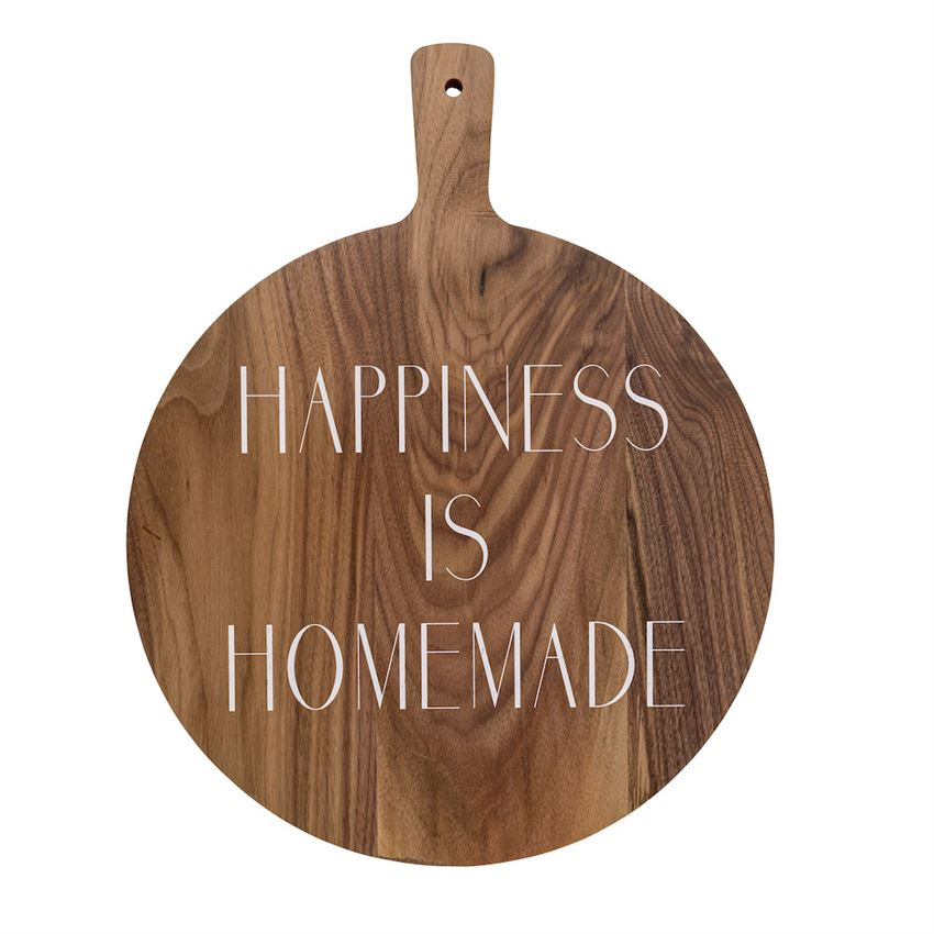 HAPPINESS IS HOMEMADE ACACIA BOARD