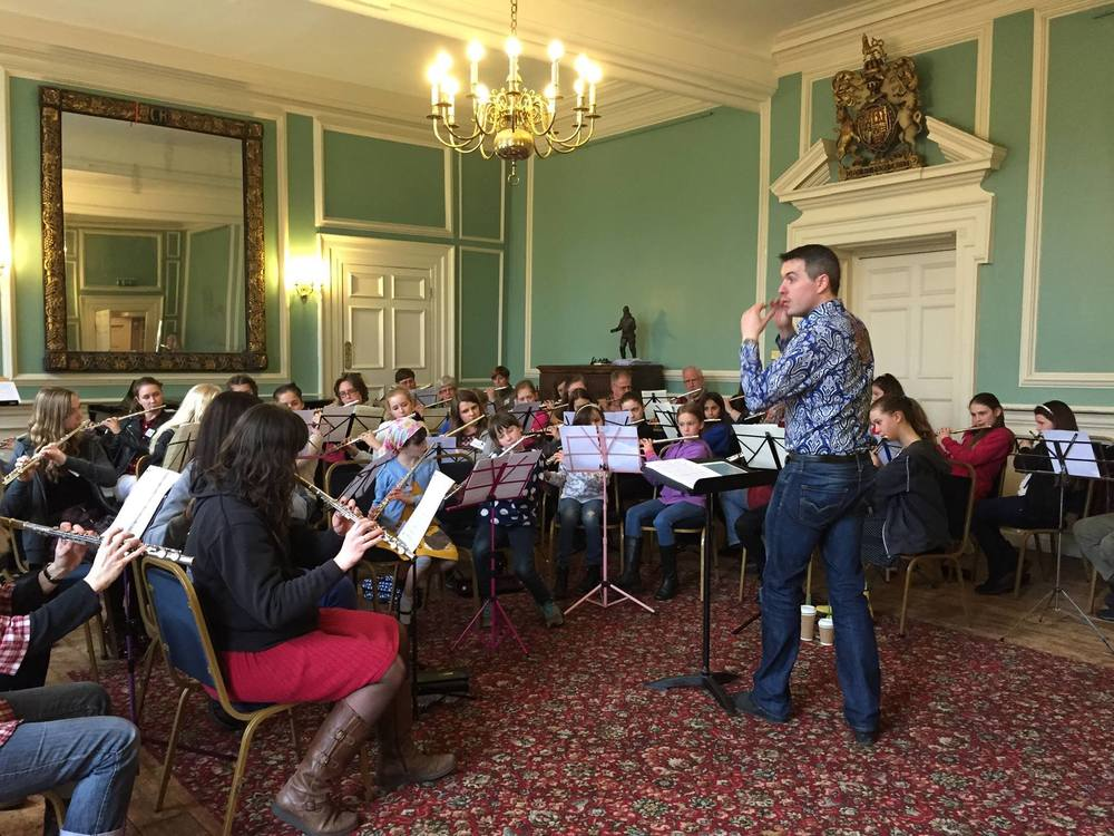 Directing Flute Ensemble in Winchester