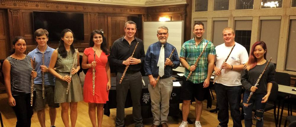 With Ransom Wilson's class at Yale School of Music, New Haven, CT - September 2015