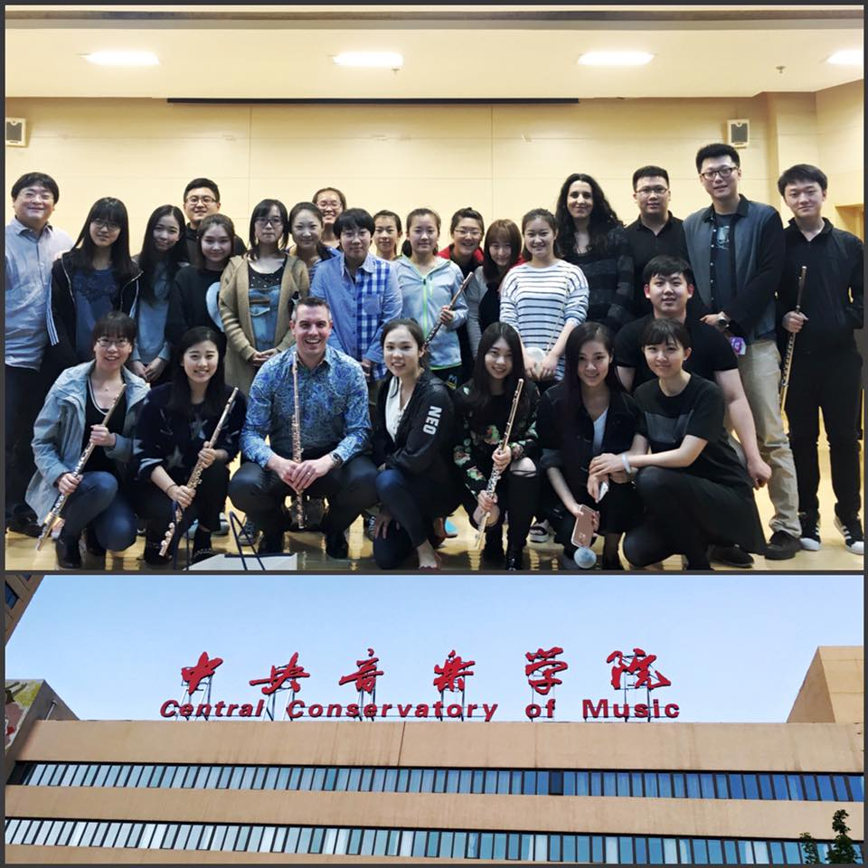 With Professor GuoLiang Han's Flute Class at the Beijing Central Conservatory of Music - May 2016