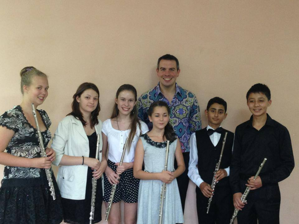With my Flute Class at the Yuri Bashmet Academy - Samara 2013