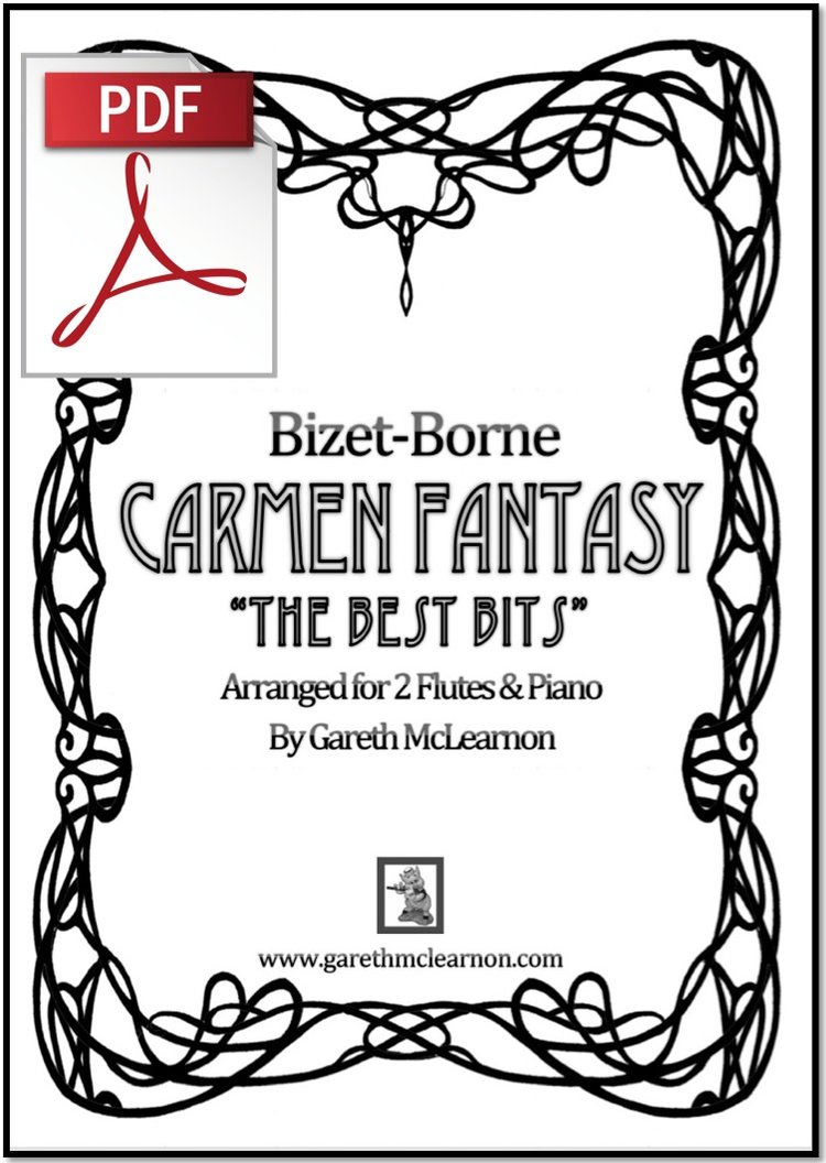 Best Bits of the Carmen Fantasy for Two Flutes & Piano