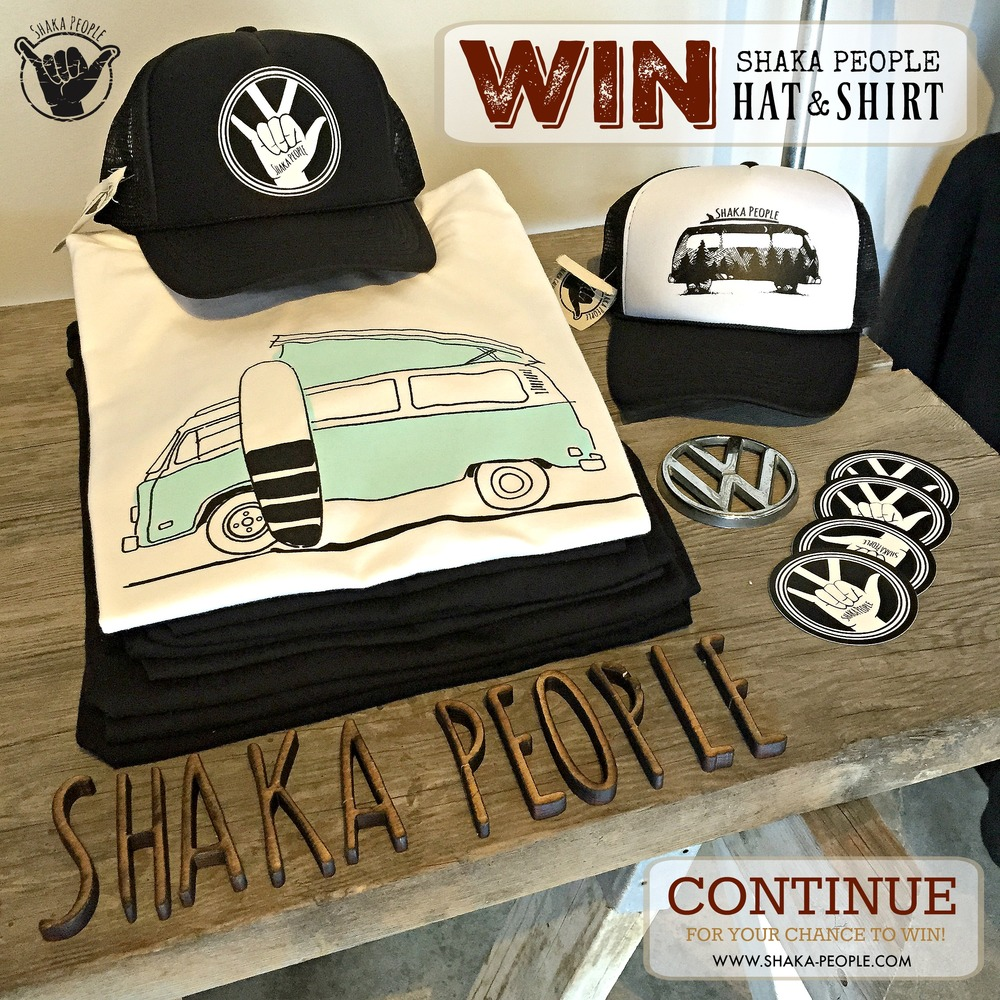 Sign up here for Shaka People T-Shirt/Hat give away!