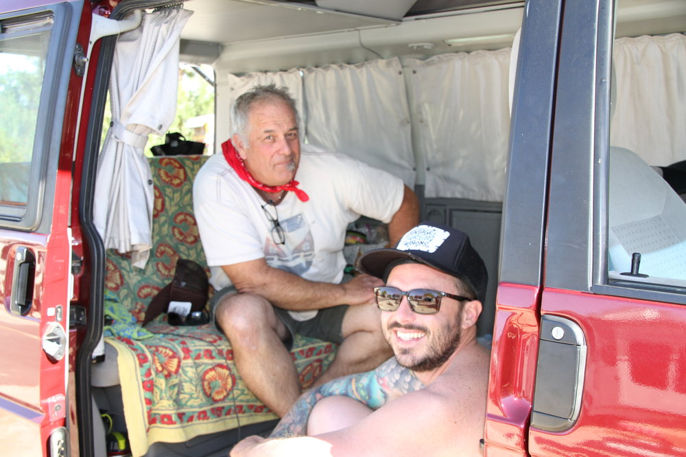Your personal camp tour guides Vintage Bill and Happy Harrigan
