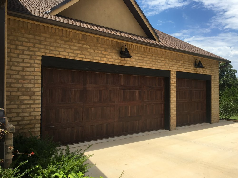 new garage door openerWood tone Accents  Trotter Garage  Home