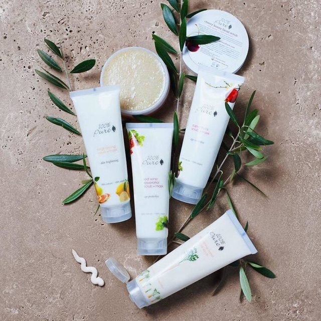 100% Pure - is a company with the goal to create the world's most pure, organic and all-natural line of cosmetics, beauty products and skincare.  Most of their products are vegan and made with nourishing antioxidants, naturally occurring vitamins, minerals and essential oils to help heal and replenish the skin.  Perfect for all of our sensitive-skin friends who need extra love & skin soothing in their regime. Tribe APPROVED!