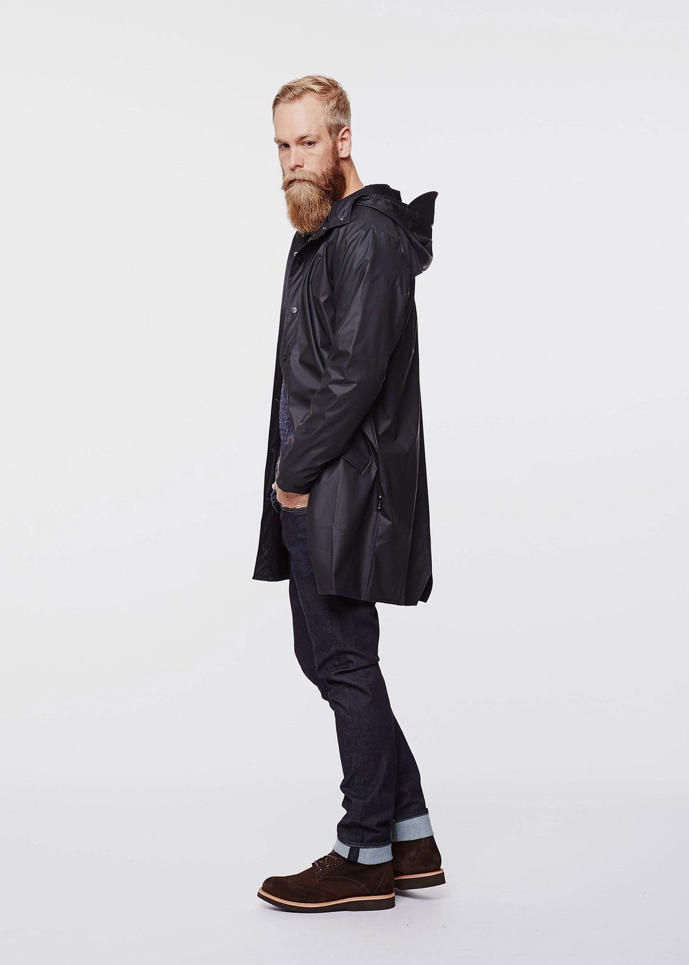Base Long jacket -  RAINS