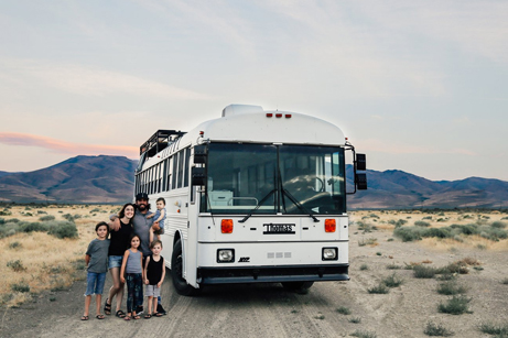 A Couple Convert An Old School Bus Into A Light and Efficient Family Home - Dwell