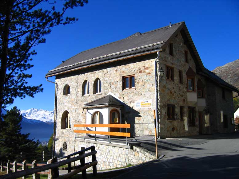 Station Scientifique de Suhalia, St. Moritz, Switzerland. Complete with laboratory, forge, looms, printing press, and observatory, Suhalia provided the 'philosophical mansions' of Schwaller and his entourage throughout the 1920s. Photograph, A. Cheak, St. Moritz, 2005.
