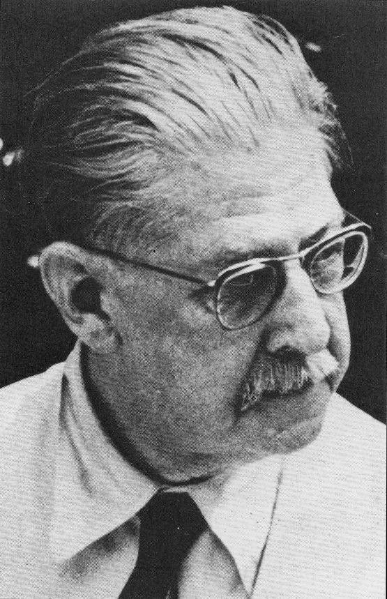 Aor at Plan-de-Grass, 1960. In 1955, Raoul Jahan described Schwaller as 'bearing an astonishing resemblance to Einstein'. He recalls how 'for three hours he spoke, answered our questions and smoked three packets of Gold Flake without interrupting himself'. Reproduced from André VandenBroeck, Al-Kemi: Hermetic, Occult, Political, and Private Aspects of R. A. Schwaller de Lubicz. Inner Traditions/Lindisfarne Press Uroboros Series v. 1. Rochester, Vermont: Lindisfarne Press, 1987.