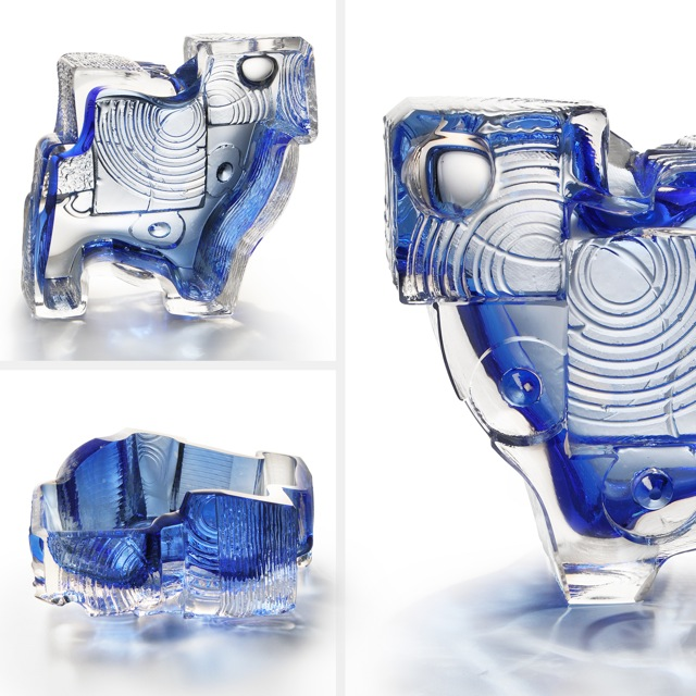 BLUE VITROGLYPH