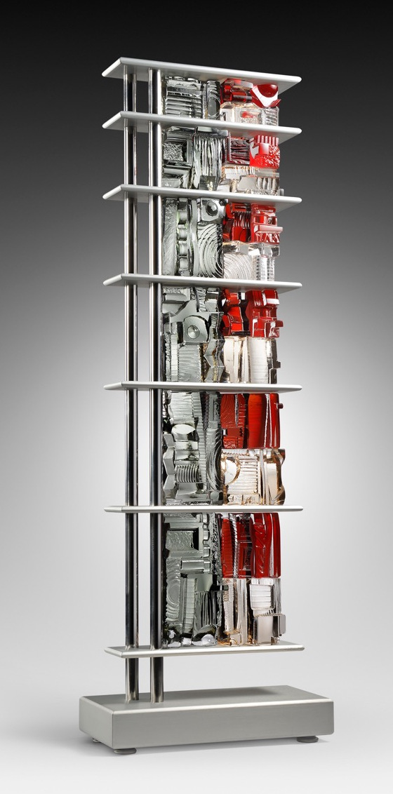 BUILDING SKYWARD III,   11 x 3 x 37.5 inches  (base dimension 13 x 6 x 2.5 inches),   $15,000