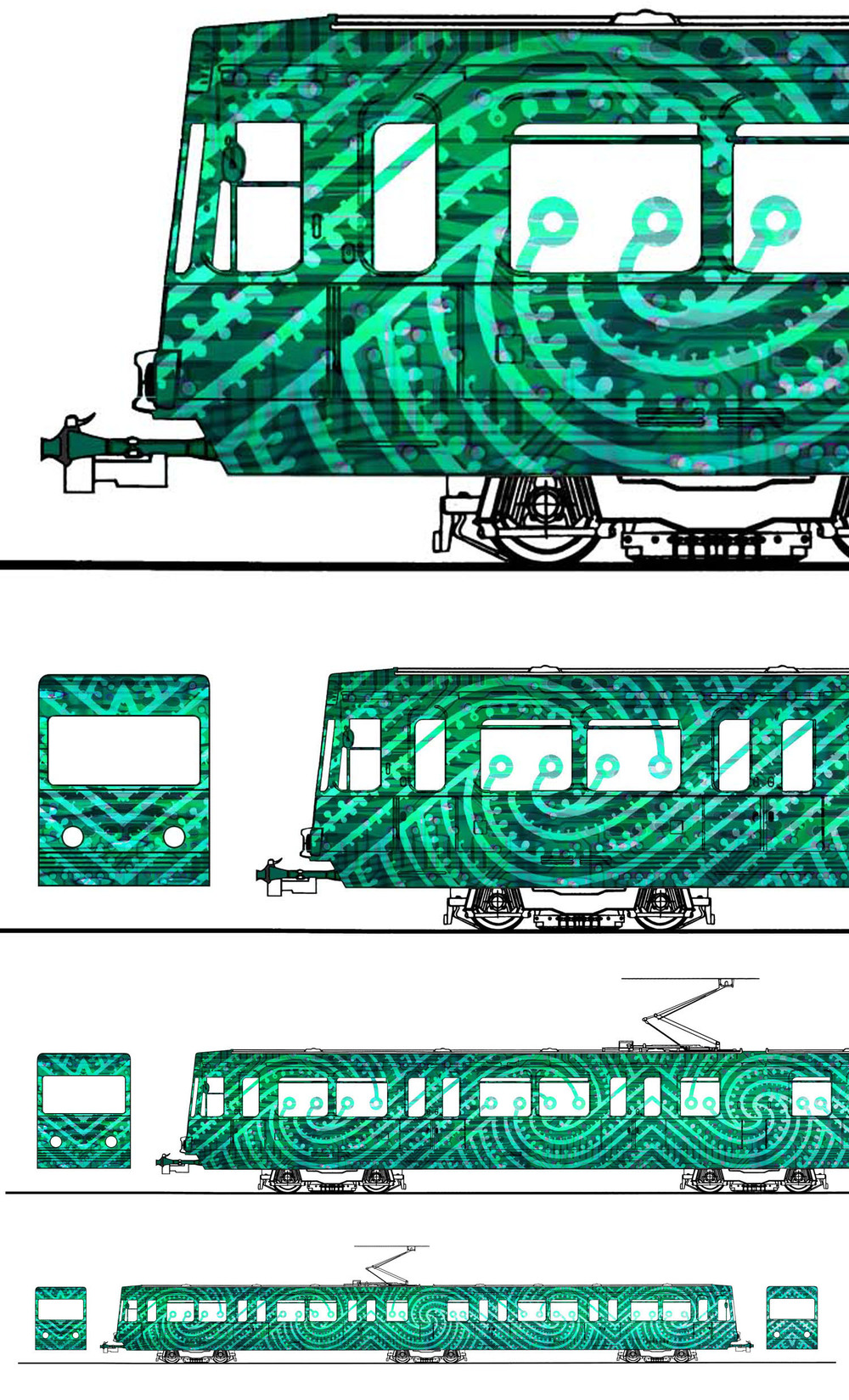 Dusseldorf Tramline – Entry for international tram design award. Designers were asked to reflect an aspect of their national culture.