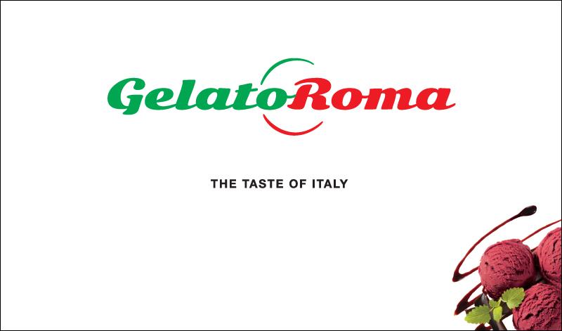 Gelato Roma – POS freezer branding (white)