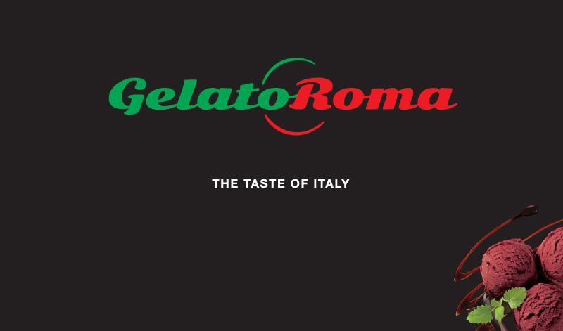 Gelato Roma – POS freezer branding (black)