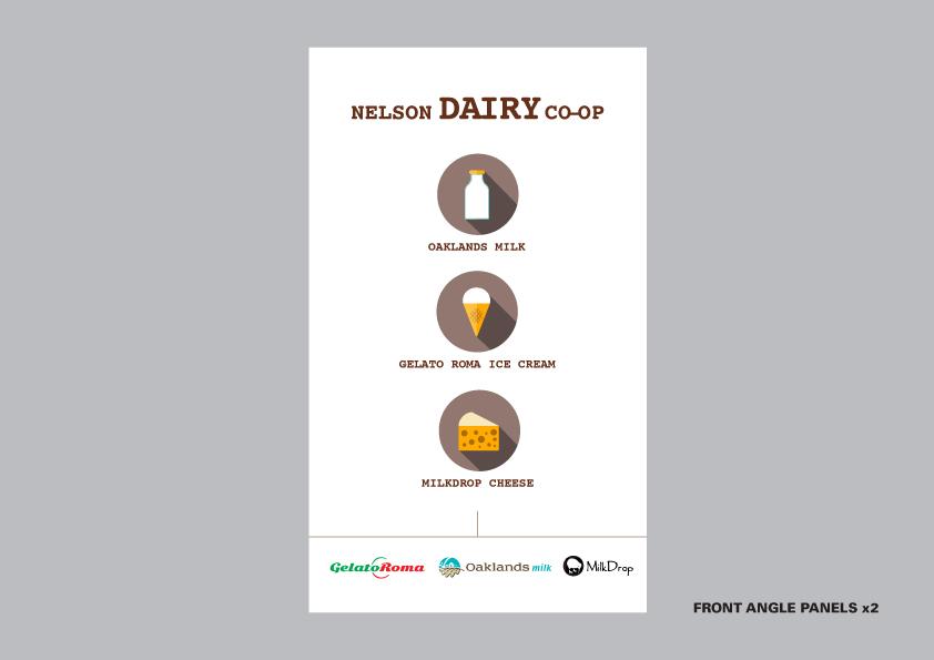 Nelson Dairy Co-Op trailer branding