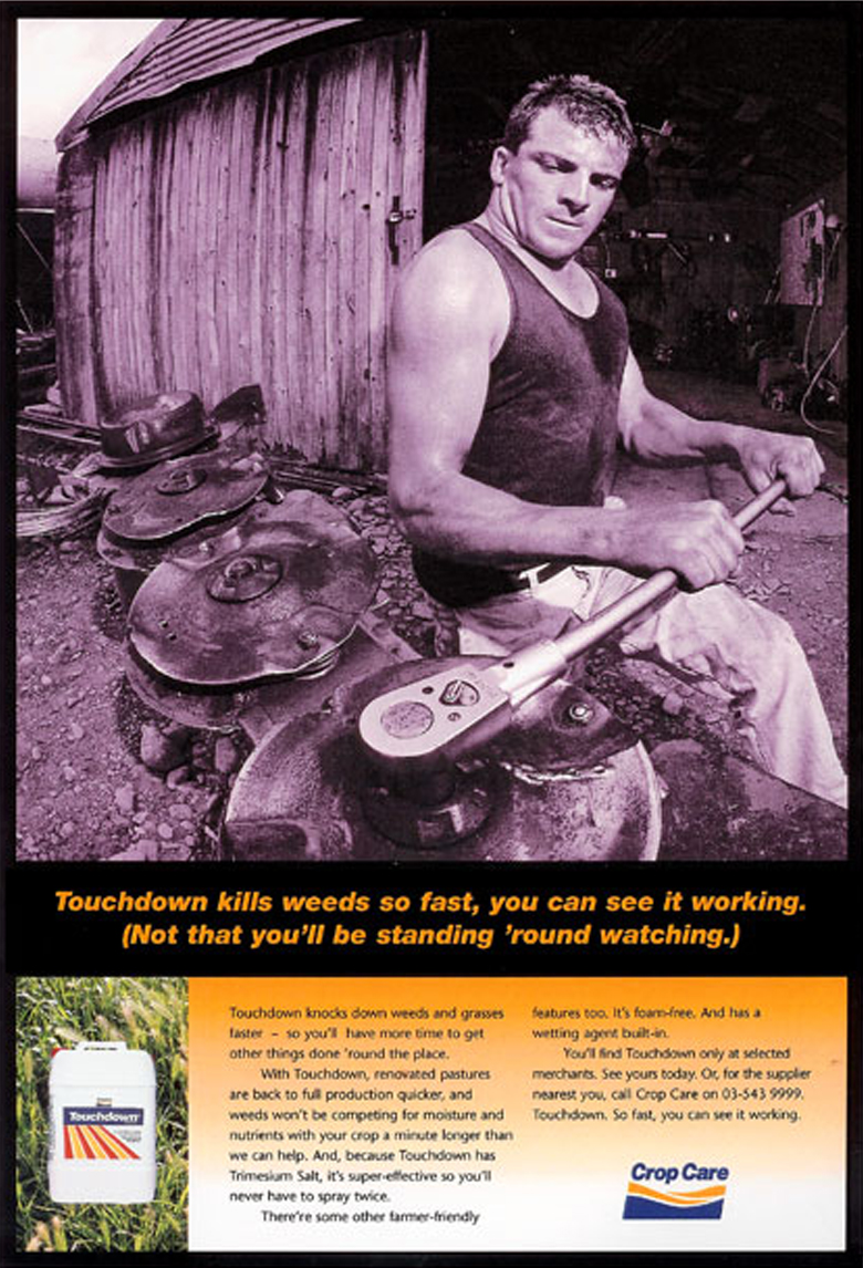 Crop Care – Magazine ad campaign for various brands under the Crop Care banner. 2 of 3.