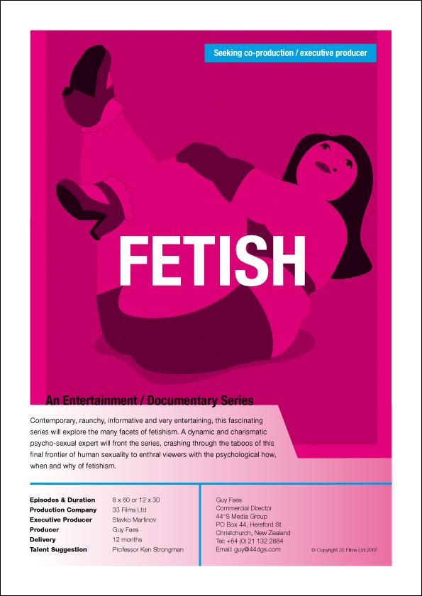 44°S Media Group – Fetish – recruitment flyer for doco series